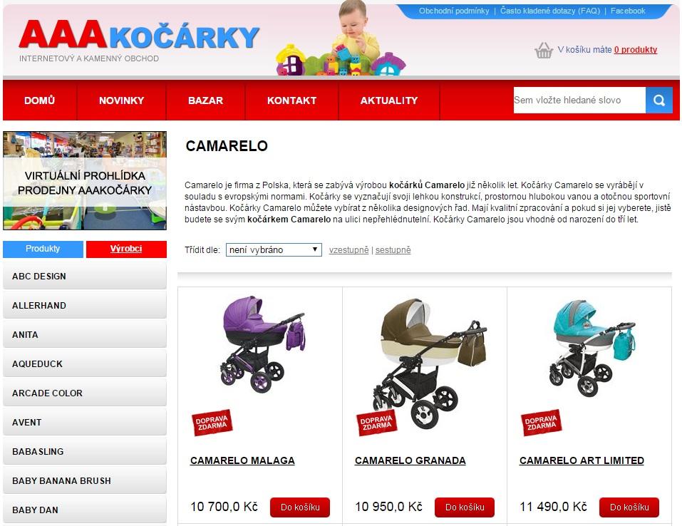 Internetový obchod AAAkočárky.cz - www